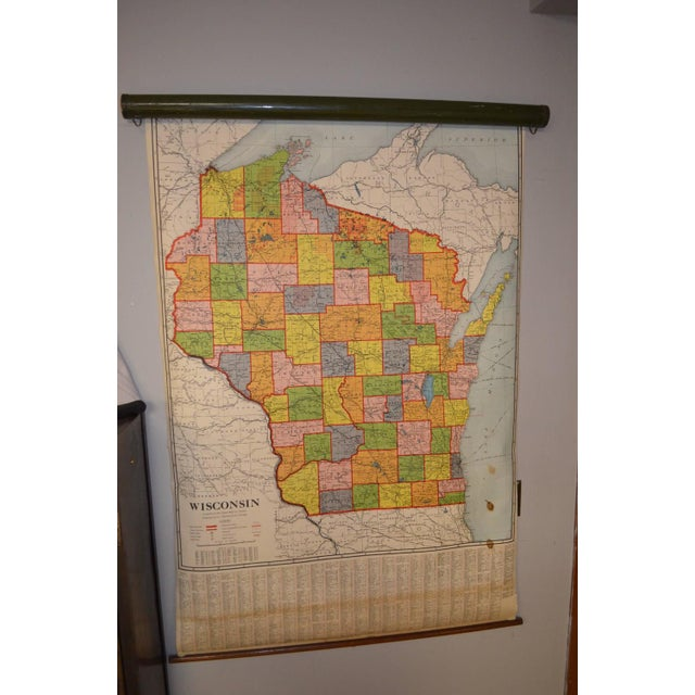 Classroom Map of Wisconsin Wall Mount - Image 3 of 10