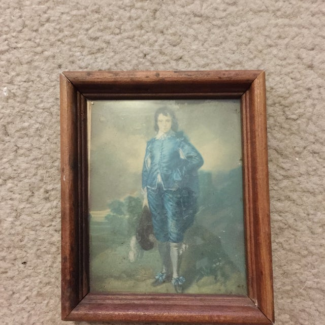 """Boy in Blue"" Antique Painting - Image 2 of 5"