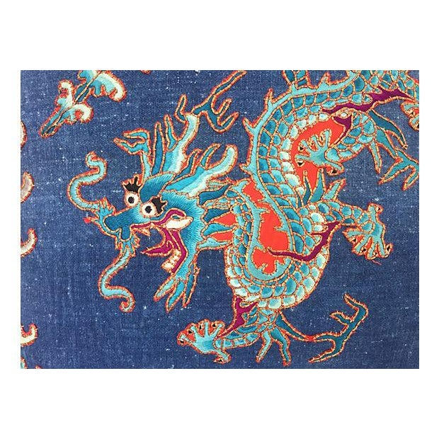 Chinese Opera Embroidered Dragon Pillow - Image 2 of 7
