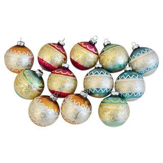 1960s Christmas Ornaments w/Box - Set of 12