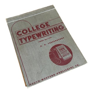 1948 College Typewriting Course Book