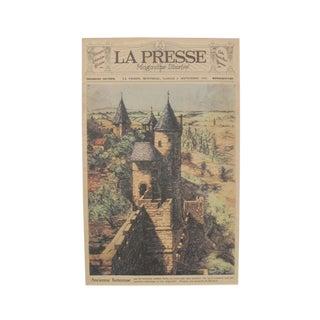 Original 1928 Montreal Vintage Fortress Print