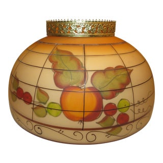Vintage Reverse Hand Painted Glass Lamp Shade