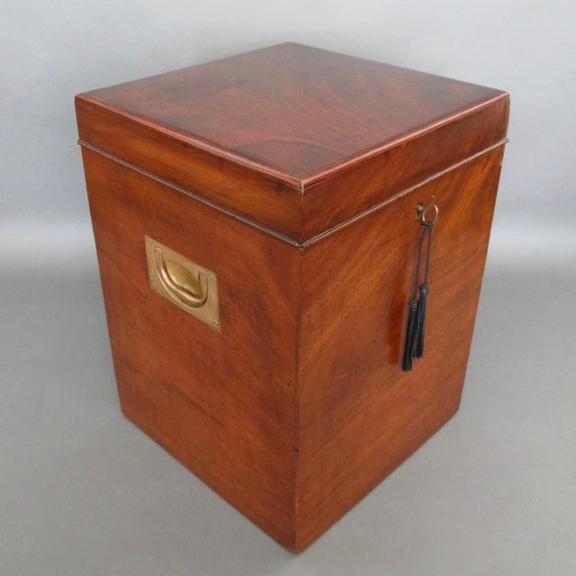 Antique English Mahogany Wine Box - Image 2 of 11