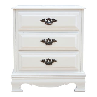 Shabby Chic Vintage White Single Nightstand