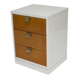 Mid-Century Modern Lacquered Three-Drawer Nightstand