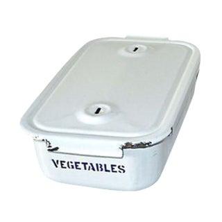 1950's Porcelain Enamel Vegetale Storage Box