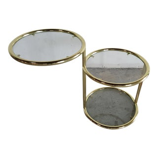 Hollywood Regency Brass Ring End Table