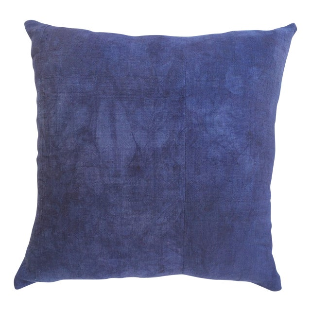 Image of Hand Woven Purple-Indigo Hemp Pillow