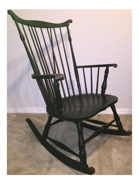 Antique Fan Back Windsor Rocking Chair