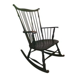 Antique Fan-Back Windsor Rocking Chair