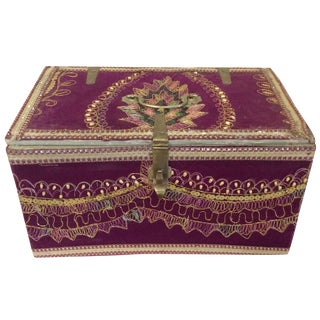 Purple Indian Embellished Storage Box