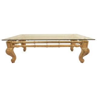 Wooden Faux Bamboo Coffee Table