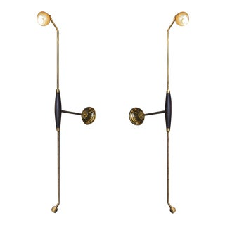 Linear gourd wall sconce