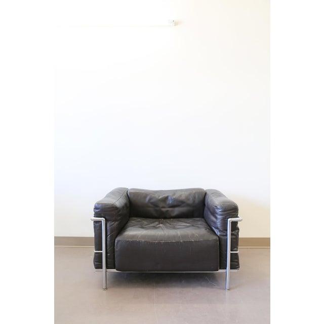 le corbusier lc3 grand comfort lounge chair chairish. Black Bedroom Furniture Sets. Home Design Ideas