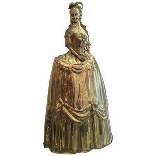 Vintage Brass Marie Antoinette Sculpture or Fire Screen