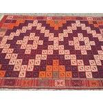 Image of Checkerboard Turkish Kilim Rug - 4′6″ × 6′11″