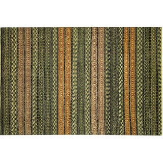 "Tribal Collection Gabbeh Wool Rug - 5'5"" x 8'5"""