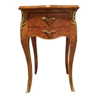 French Louis XV Style Gilt Metal Mounted Side Table