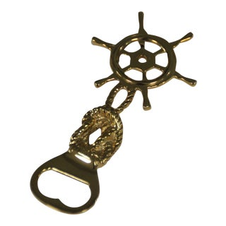 Brass Ship Captain's Wheel Bottle Opener