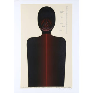 """John Russell Clift """"Head and Upper Torso for a Flyer Whirligig (No One """"B"""")"""" Serigraph"""