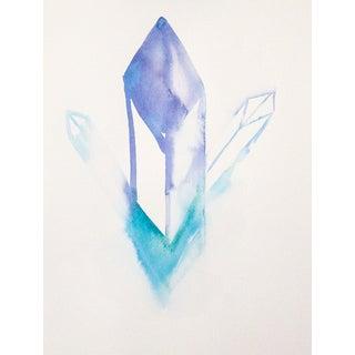 """Celia Agnes """"Flourite"""" Watercolor Painting"""