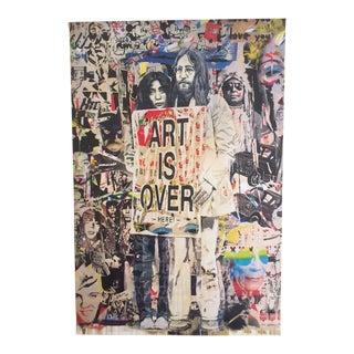 """Mr. Brainwash Lithograph Print Poster """" Yoko Ono & John Lennon """""""