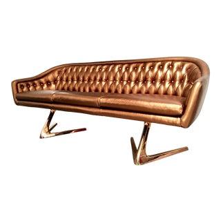 Copper Rose Gold Chromcraft Sculpta Sofa