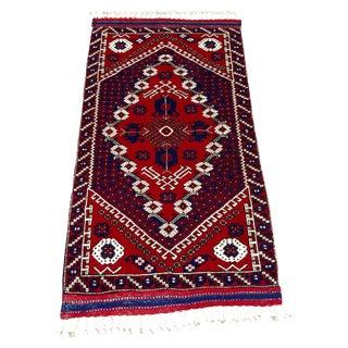 Sami-Antique Bergama Wool Rug - 3′2″ × 5′8″