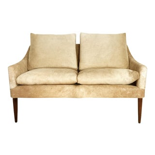 Forsyth One of a Kind Danish Style Loveseat in Brazilian Cowhide