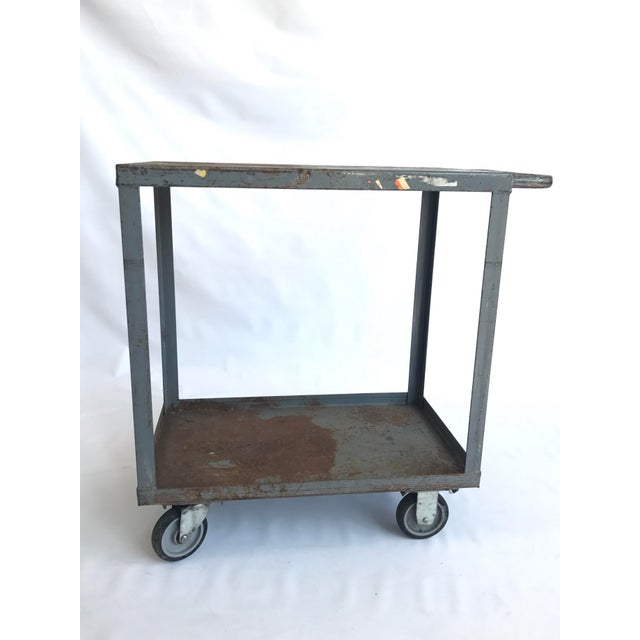 Vintage Industrial Utility Bar Cart Chairish