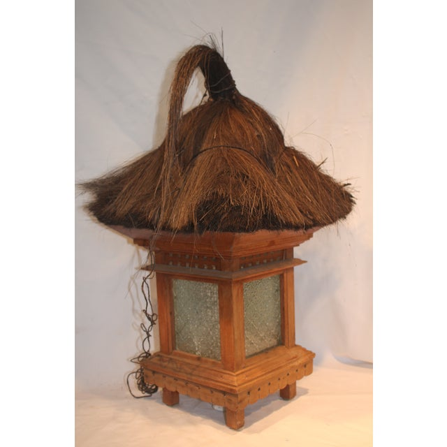 Balinese Traditional Wood & Grass Lantern - Image 2 of 3