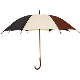Vintage Mens Umbrella with Wood Accent Tips