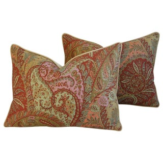 Custom Brunschwig & Fils Paisley Pillows - Pair