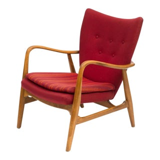 Acton Schubell and Ib Madsen Lounge Chair, Denmark, 1950s