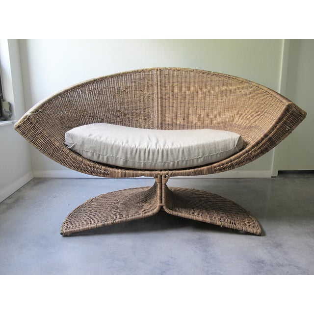 Miller Yee Fong Lotus Chair: 1960s Wicker Lounge - Image 3 of 11