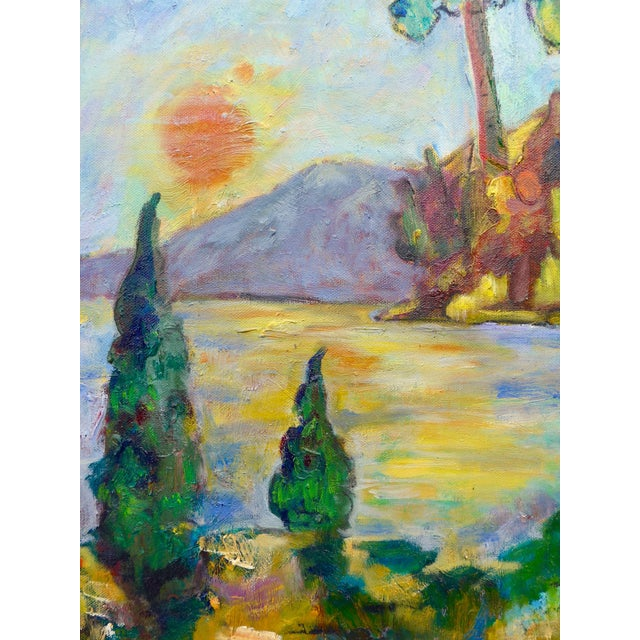 Sunset on the Lake Plein Air Painting - Image 4 of 6