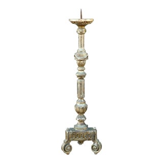 Early 19th Century Bore Doré Candlestick from France