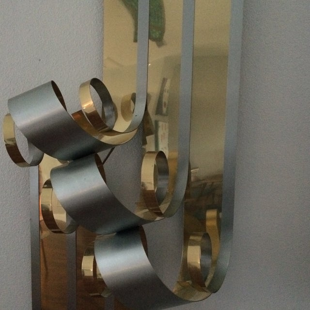 Image of Mid-Century Two Tone Metal Ribbon Sculpture