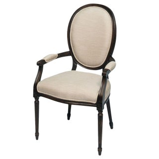Sarreid Ltd Black & Cream Louis XVI Armchair