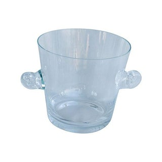 Tiffany Co. Glass Champagne Wine Chiller Bucket