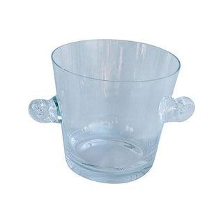 Tiffany Co. Glass Champagne Wine Chiller Bucket