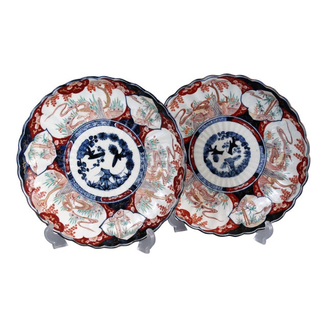 Japanese Porcelain Imari Chargers - A Pair - Image 1 of 9
