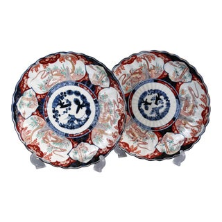 Japanese Porcelain Imari Chargers - A Pair