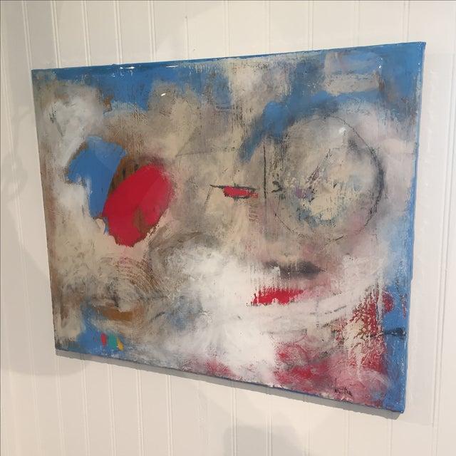 "Taffi Laing ""Poem"" Abstract Original Painting - Image 3 of 8"
