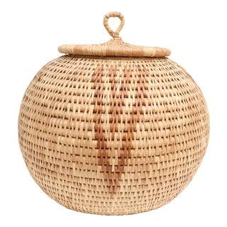 Over-sized African Hand-Woven Zulu Herb Basket