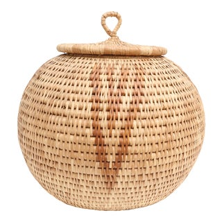 Over-sized African Hand-Woven Zulu Herb Basket