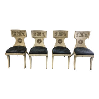 Neoclassical Klismos Chairs - Set of 4