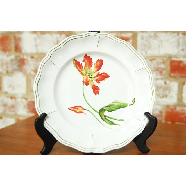 """Set of 66 French Luneville Hand-Painted Floral Dining Plates """"Rovina Epinal"""" - Image 9 of 11"""