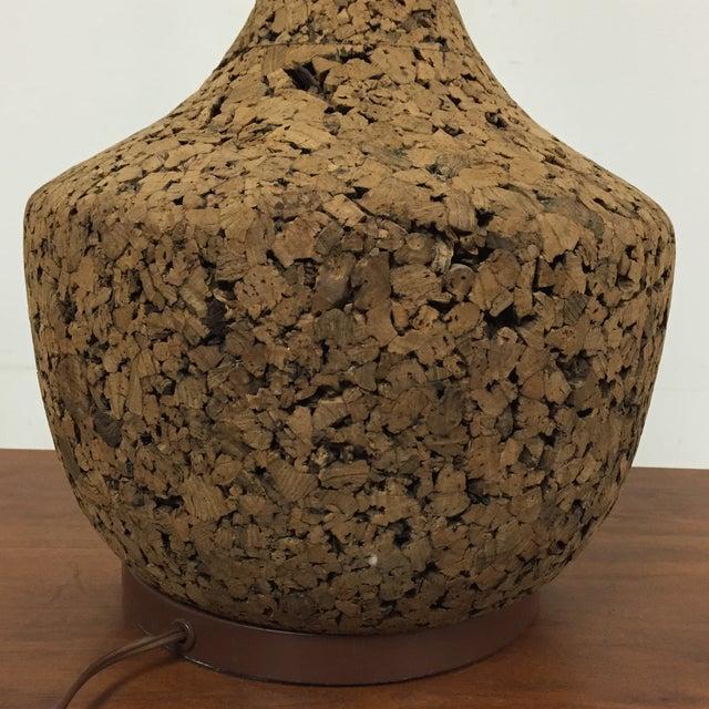 Image of Mid-Century Cork Table Lamp
